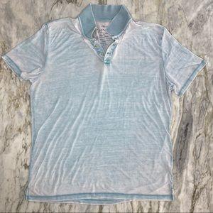 LUCKY BRAND Lightweight Burnout Polo Shirt XL